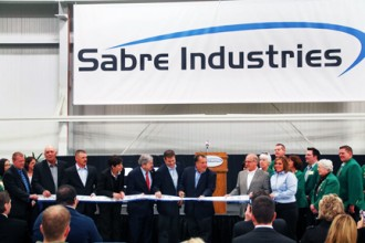 Sabre Industries Ribbon Cutting Ceremony on New Steel Fabrication Campus
